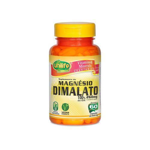 Magnésio Dimalato - Unilife - 60 Cápsulas