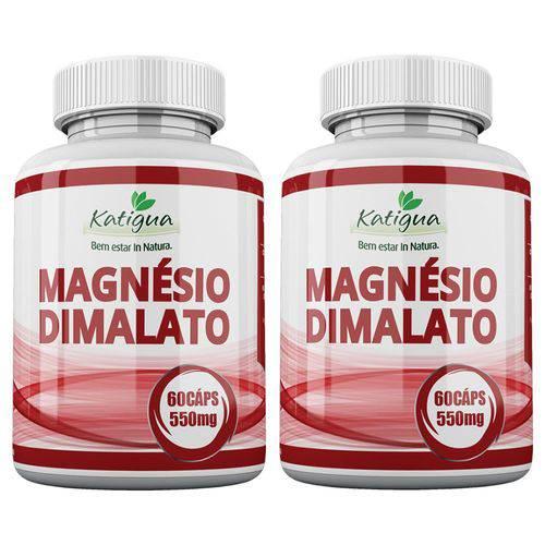 Magnésio Dimalato - 2x 60 Cápsulas - Katigua