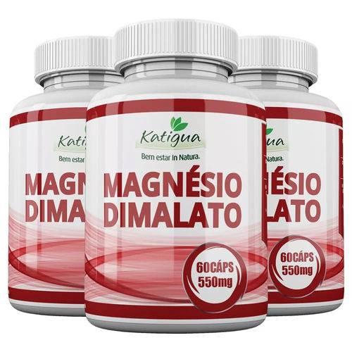 Magnésio Dimalato - 3x 60 Cápsulas - Katigua