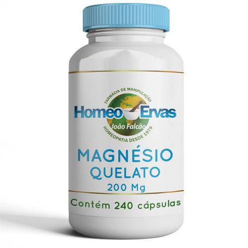 Magnésio Quelato 200 Mg - 240 CÁPSULAS