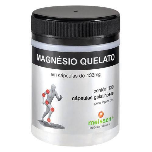 Magnésio Quelato (433mg) 120 Cápsulas - Meissen