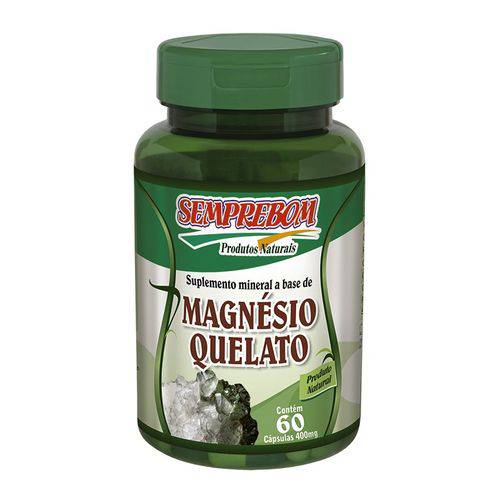 Magnésio Quelato 60 Cápsulas 400mg