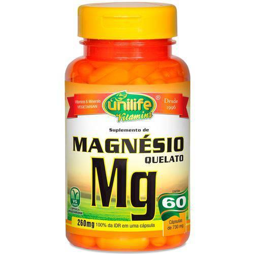 Magnésio Quelato 60 Cápsulas de 730mg