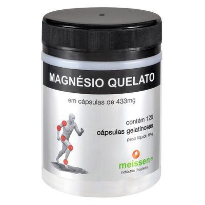 Magnésio Quelato + Absorção 120 Cápsulas Gelatinosas - Meissen