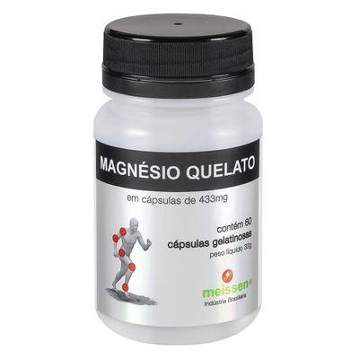 Magnésio Quelato + Absorção 60 Cápsulas Gelatinosas - Meissen