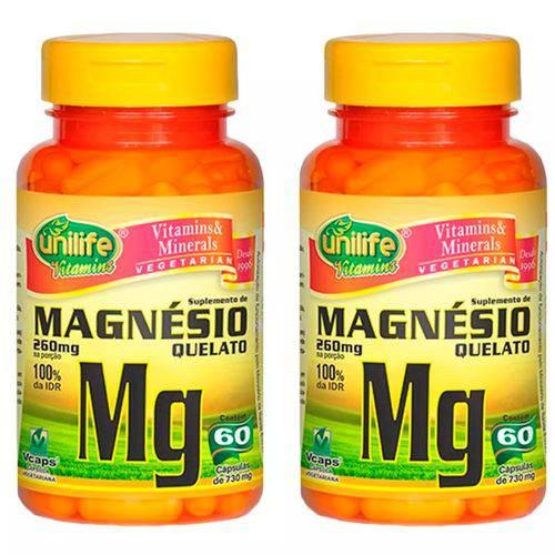 Magnésio Quelato - 2 Un de 60 Cápsulas - Unilife