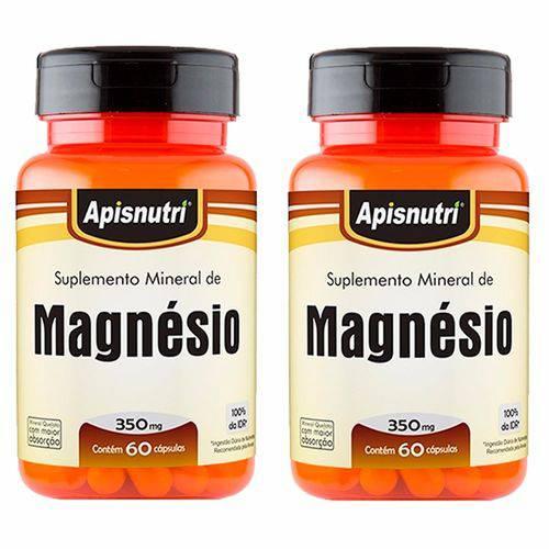 Magnésio - 2 Un de 60 Cápsulas - Apisnutri
