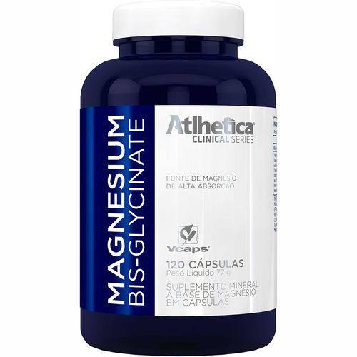 Magnesium Bisglycinate 120 Cápsulas Magnésio - Atlhetica