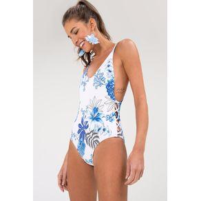 Maio Side Boob Estampado Est Lazuli Maxi Praia - P