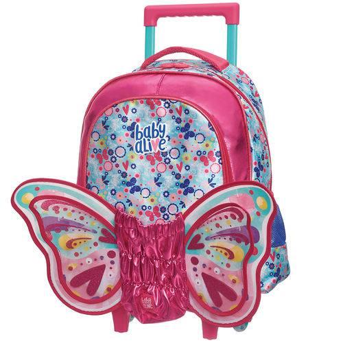 Mala C/carrinho M Baby Alive Butterfly