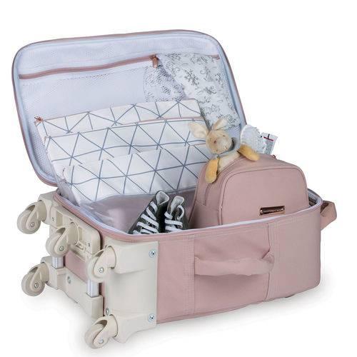 Mala Maternidade com Rodinha Rose Gold Rosa - Masterbag Baby
