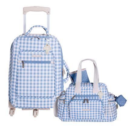 Mala Maternidade com Rodízio + Bolsa Everyday Sorvete Azul - Masterbag