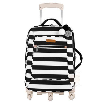 Mala Maternidade com Rodízio Brooklyn Black And White - Masterbag