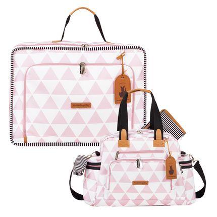 Mala Maternidade Vintage + Bolsa Everyday Manhattan Rosa - Masterbag