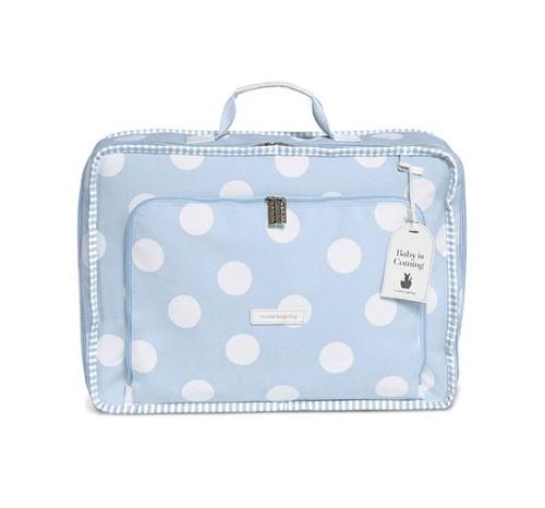 Mala Maternidade Vintage Bubbles Azul Masterbag Baby