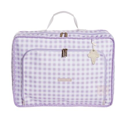 Mala Maternidade Vintage Sorvete Lilás - Masterbag