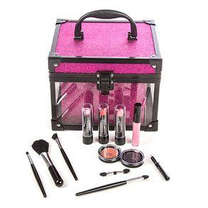 Maleta de Maquiagem Fenzza Clear Pink 1un