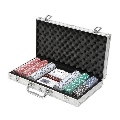 Maleta de Poker Completa em Aço com 300 Fichas Prestige