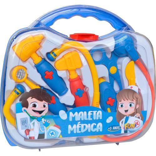 Maleta Médica Infantil Fun com 8 Acessórios - Colorida