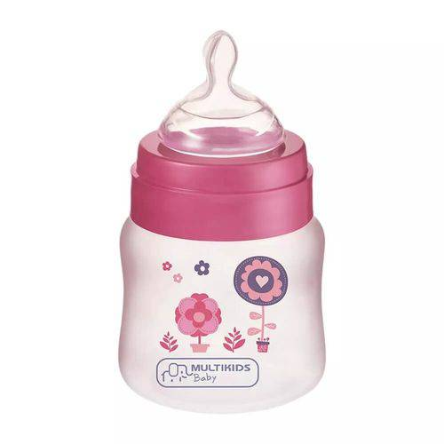 Mamadeira Boysgirls Pp Rosa Ortonatural 125ml Bb104 Multilaser