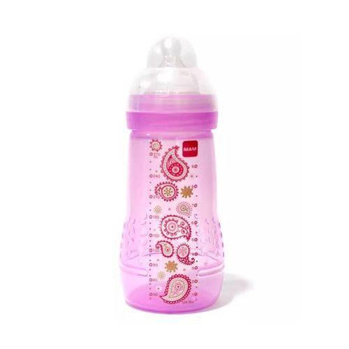Mamadeira Easy Active - Fashion Bottle 270ml Girl Rosa - MAM