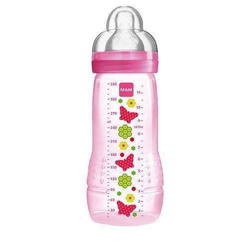 Mamadeira Fashion Bottle 330ml Girls Rosa (4m+) 4834 - Mam