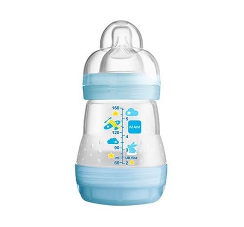 Mamadeira First Bottle 160 Ml 0+meses Azul Mam