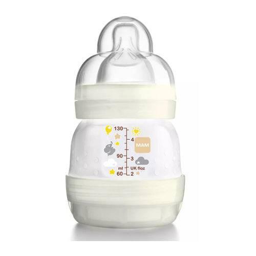 Mamadeira First Bottle Anti-cólica e Auto-esterilizável 130ml Bege Neutral - MAM