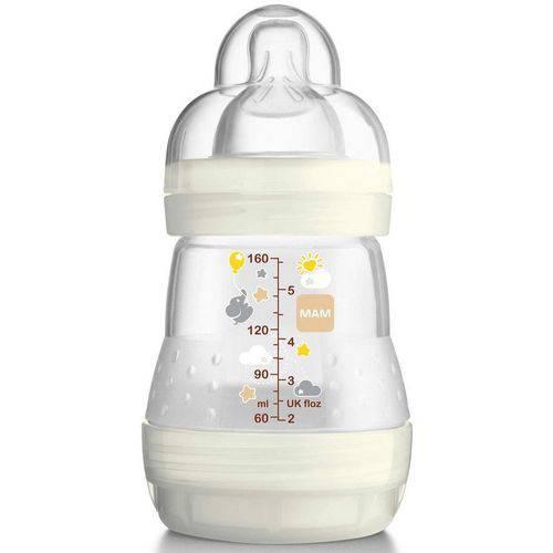 Mamadeira First Bottle Anti-cólica e Auto-esterilizável 160ml Bege Neutral - Mam