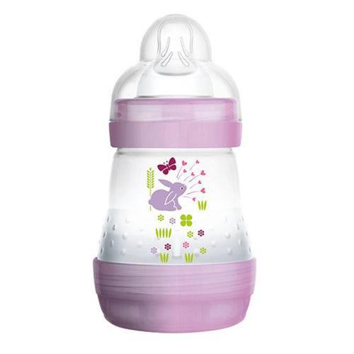 Mamadeira First Bottle Anti-cólica e Auto-esterilizável 160ml Menina - MAM