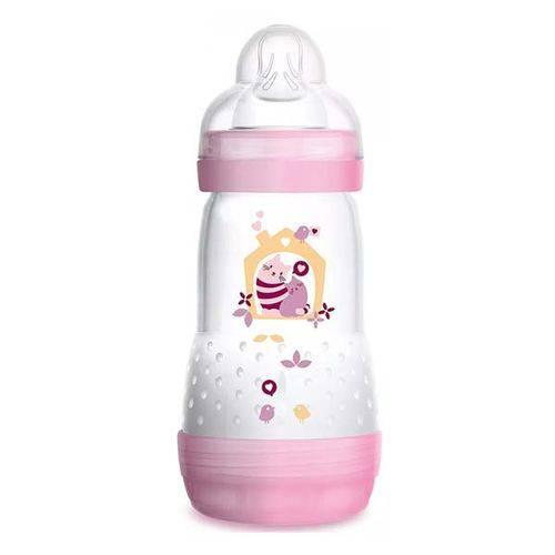 Mamadeira First Bottle Anti-cólica e Auto-esterilizável 260ml Menina - MAM
