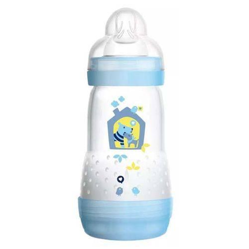 Mamadeira First Bottle Anti-cólica e Auto-esterilizável 260ml Menino - MAM