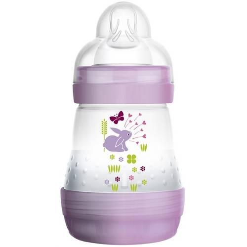 Mamadeira First Bottle Girls Coelho Lilás 160ml Anti-Cólica Mam (0m+)