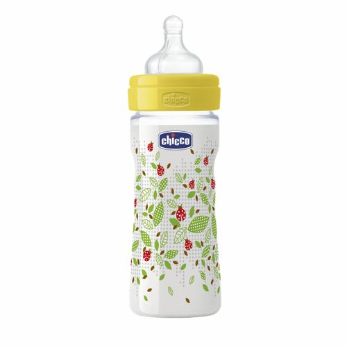 Mamadeira Fisiológica Well Being PP Silicone 250ml Fluxo Tris (2m+) - Chicco