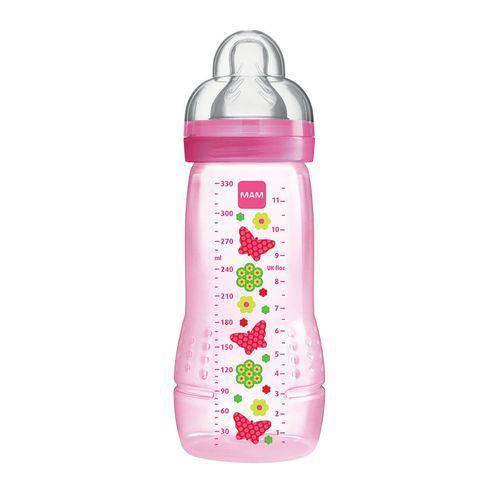 Mamadeira Girls Fashion Bottle 330ml MAM Rosa