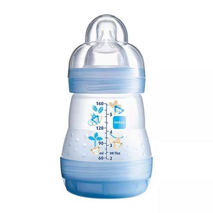Mamadeira MAM First Bottle Bico de Silicone Ortodôntico Silk Touch Desenhos Sortidos 160ml 0+ Meses Boys