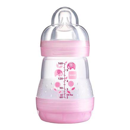 Mamadeira Mam First Bottle Bico de Silicone Ortodôntico Silk Touch Desenhos Sortidos 160ml 0+ Meses Girls Ref 4662