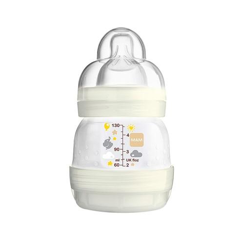 Mamadeira Mam First Bottle Bico de Silicone Silk Touch 130ml 0+ Meses Ref 4651