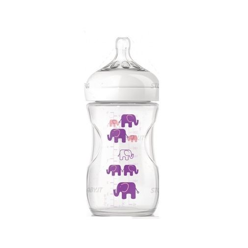 Mamadeira Pétala Elefantes Lilás - BPA Livre - 260ml - Philips Avent