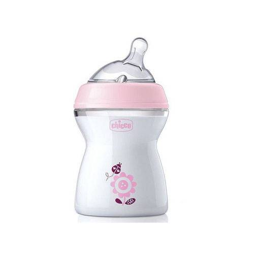Mamadeira Step Up 2m+ 250ml Fluxo Normal Rosa - Chicco