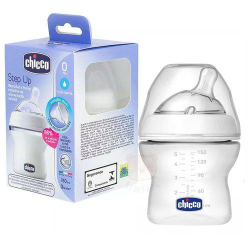 Mamadeira Step Up New 150ml Fluxo Normal 0m+ Chicco 808110