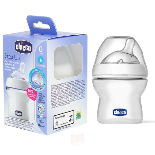 Mamadeira Step Up New 150ml Fluxo Normal (0m+) - Chicco