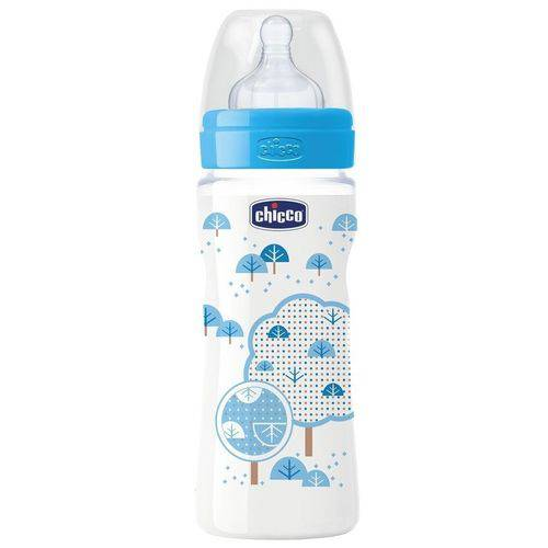 Mamadeira Well-being 330ml Azul +4m Chicco 206352