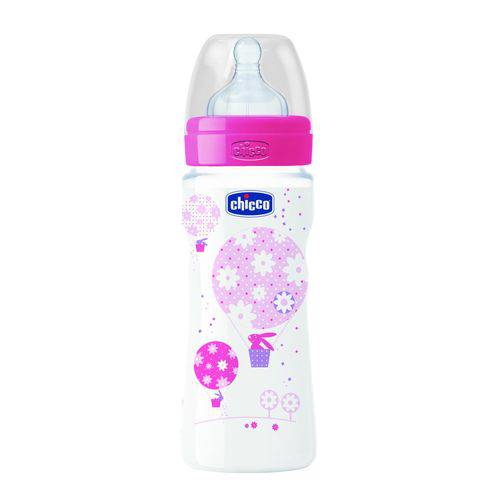 Mamadeira Wellb Pp 330ml Chicco Silicone 4m+ Girl