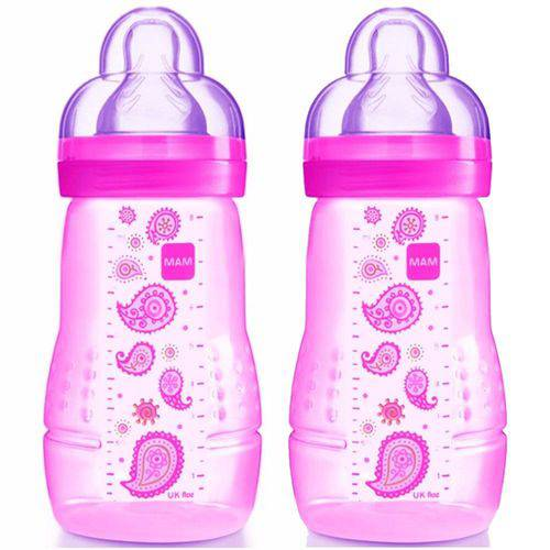 Mamadeiras Dupla Fashion Bottle 270ml Girls - MAM