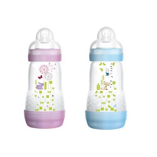 Mamadeiras First Bottle 260ml Rosa e Azul (Embalagem Dupla)