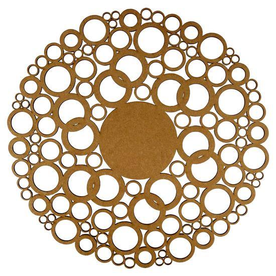 Mandala Círculos em MDF 13x13cm - Palácio da Arte
