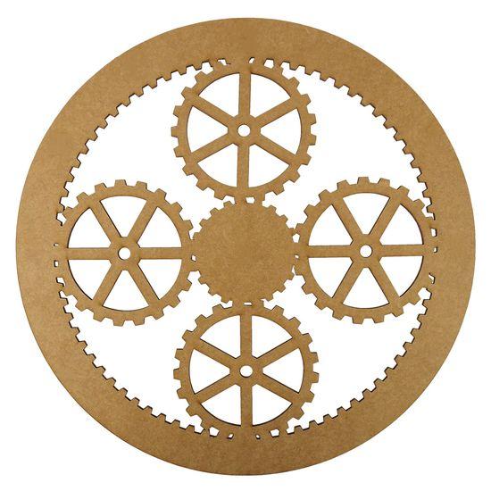 Mandala Engrenagens em MDF 13x13cm - Palácio da Arte