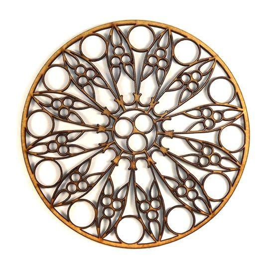 Mandala Étnica em MDF 13x13cm - Palácio da Arte