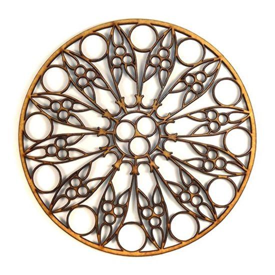 Mandala Étnica em MDF 25x25cm - Palácio da Arte